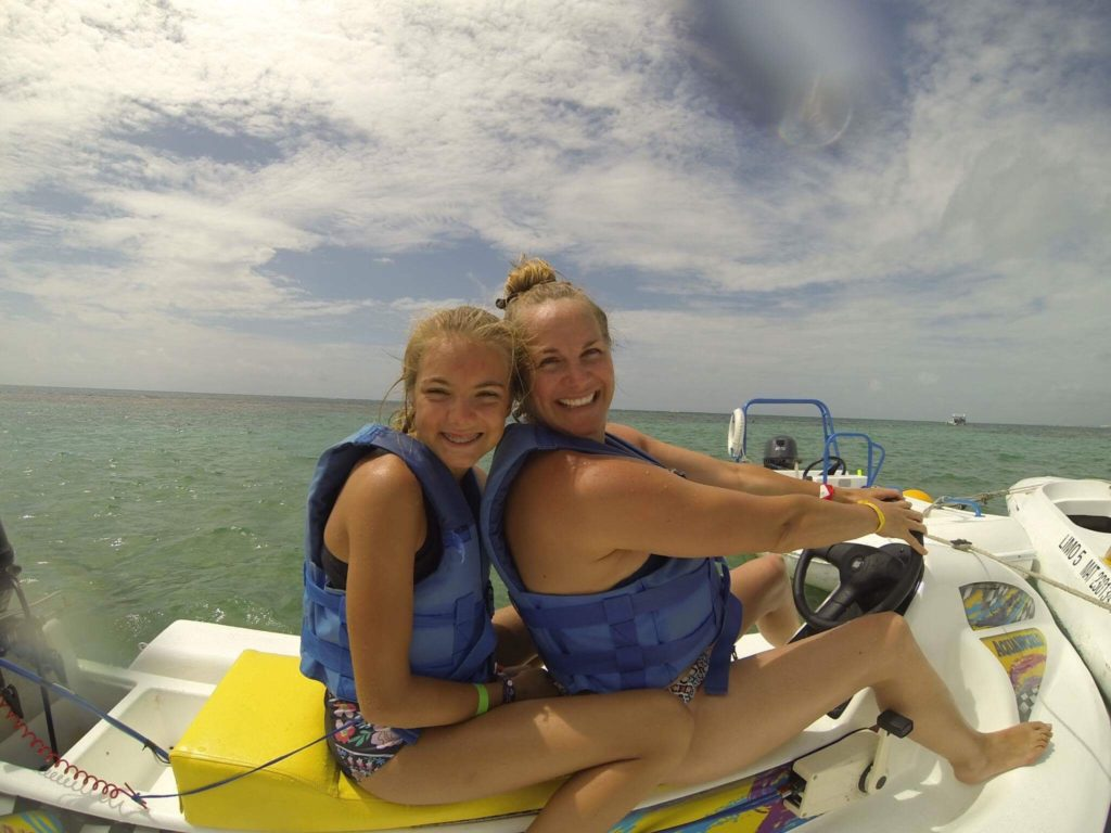 Jet skiing in Cancun